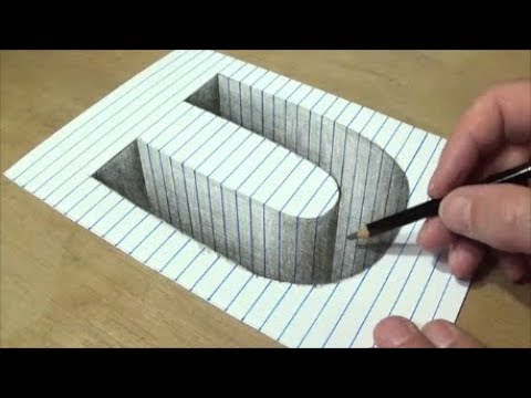 Drawing U Hole In Line Paper 3d Trick Art Vamos Youtube
