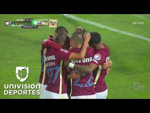 Oribe Peralta brinca más que nadie y América empata 1-1 con Santos