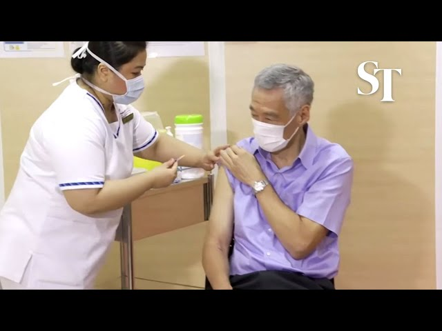 PM Lee receives Covid-19 vaccine as Singapore starts nationwide vaccination drive