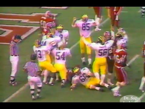 1985 South Carolina Michigan Goal Line Stop
