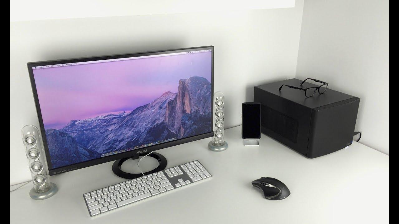 ultimate minimal desk setup tour youtube. Black Bedroom Furniture Sets. Home Design Ideas