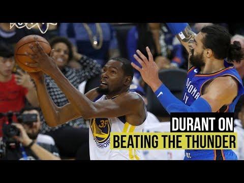 Kevin Durant on opening night win over Oklahoma City Thunder