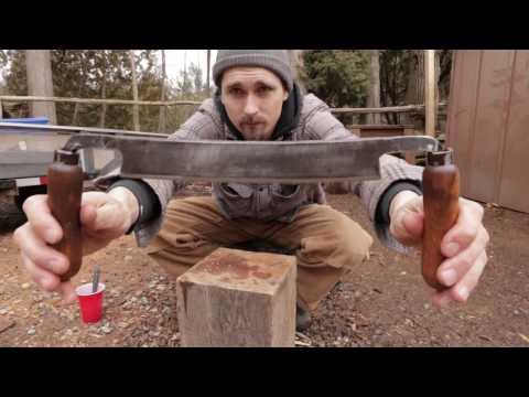 Bushman Draw Knife Restoration - Removing Rust and Sharpen