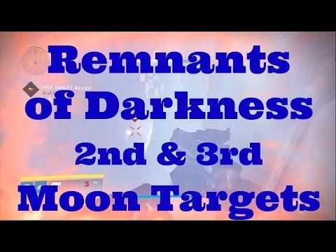 Destiny: TTK Remnants of Darkness - Moon Targets - 2nd and 3rd (Final) Target
