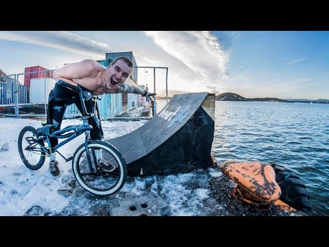 SUPER FREEZING BMX WATER JUMP!