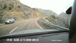 Drive US-60 E from Globe, AZ to Show Low, AZ