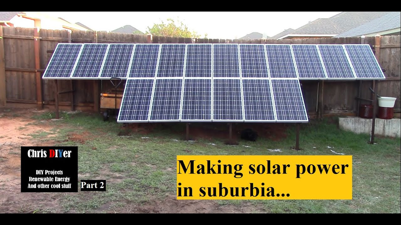 Backyard Solar Panels part 2 - (deconstruction/fence posts) suburbia backyard corner solar