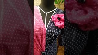 платье с драпировкой на запах по японскому крою