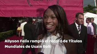 Allyson Felix rope récord de Usain Bolt