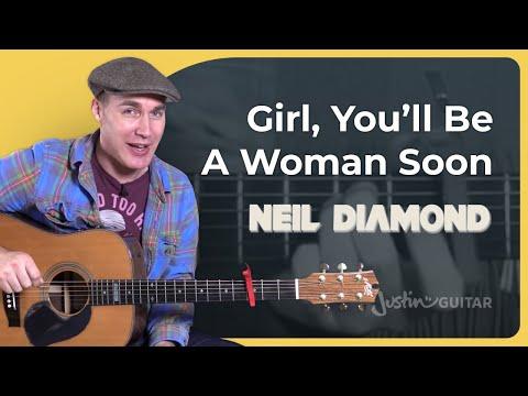 Girl, You'll Be A Woman Soon - Neil Diamond - Guitar Lesson Tutorial (BS-423)