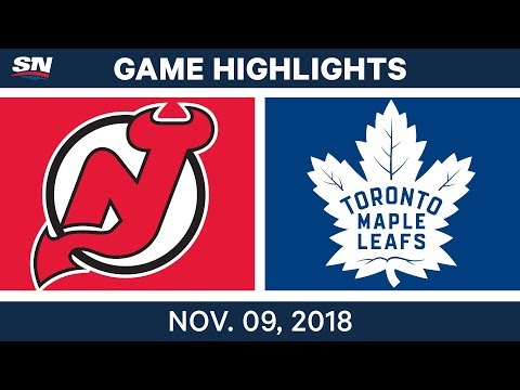 NHL Highlights | Devils vs. Maple Leafs – Nov. 9, 2018
