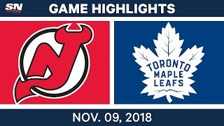 NHL Highlights | Devils vs. Maple Leafs – Nov. 9, 2018