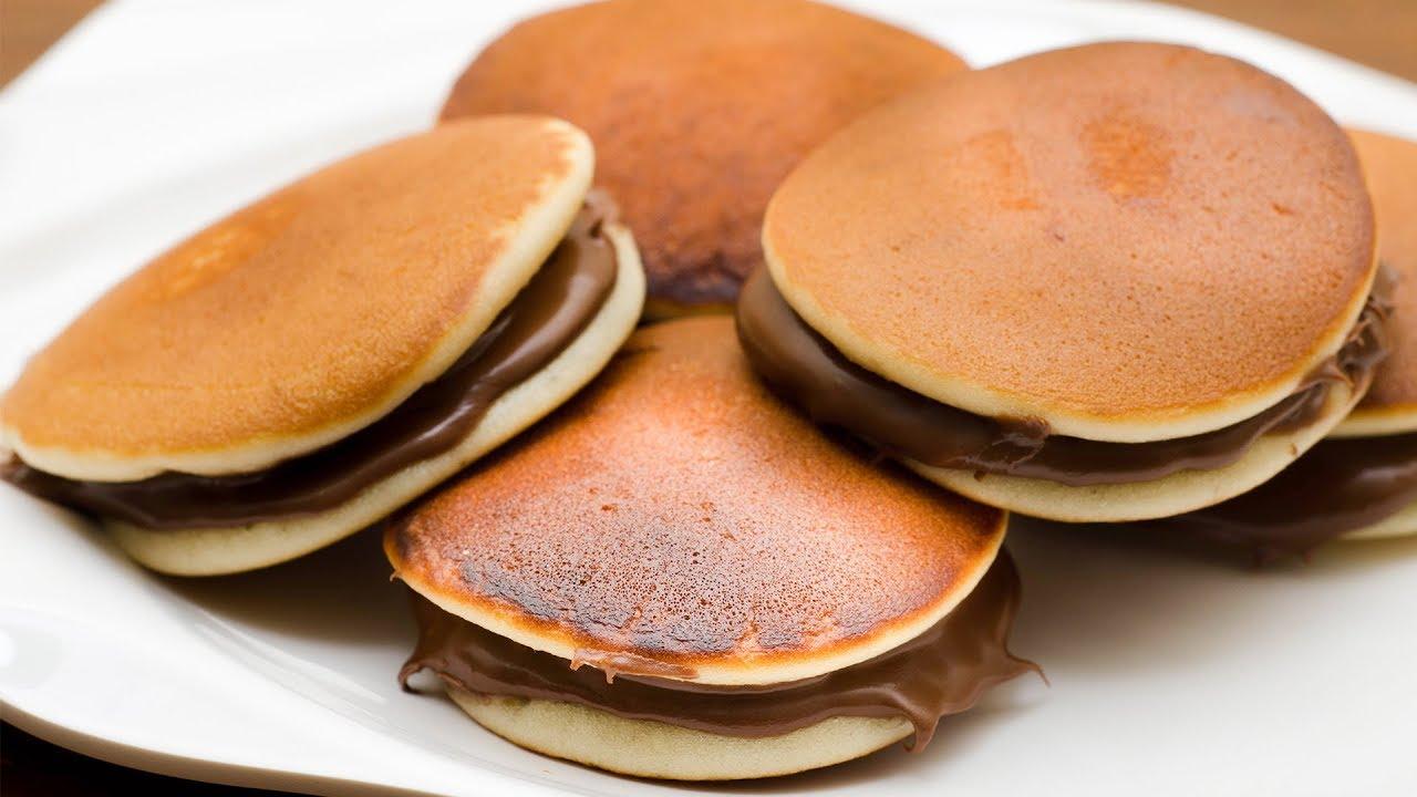 Japanese Dora Cake Recipe: EGGLESS DORA CAKE RECIPE L DORAYAKI L DORA PANCAKES L KID