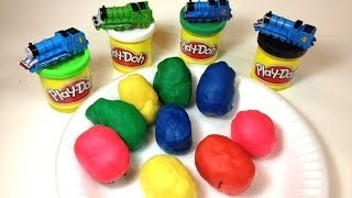 Thomas and Friends Trains in Play Doh Eggs like Super Super Eggs with Toys by PleaseCheckOut