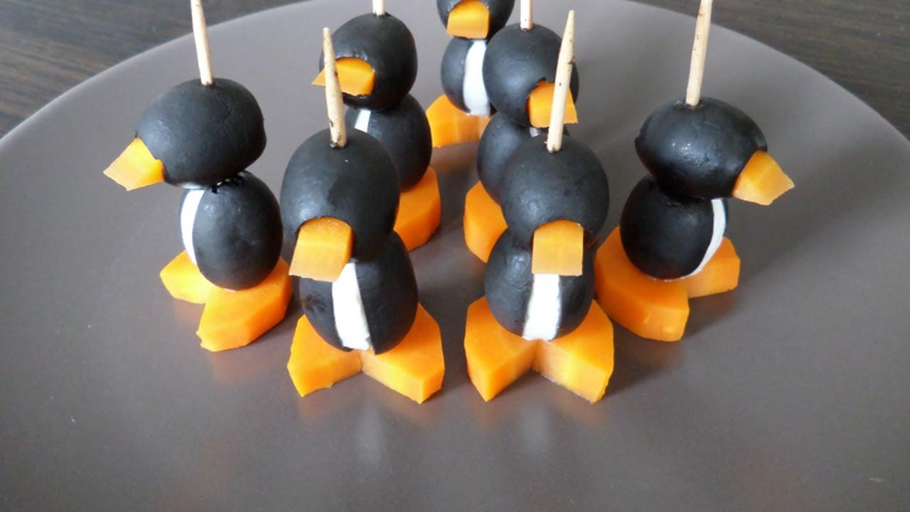 Antipasti Di Natale Pinguini Con Olive E Formaggio.Prepara Degli Sfiziosi Pinguini Di Olive Fai Da Te Cibo Bevande Guidecentral Youtube
