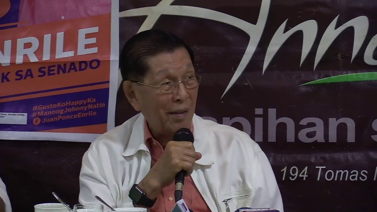 Enrile on Ressa's arrest: 'It's just unfortunate that she's a member of the media'