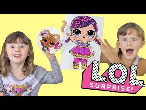 LOL Dolls Glitter Series Glitter Art Challenge Fun Family Three Ava Isla and Olivia
