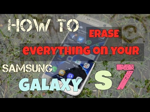 How to erase everything on your Samsung Galaxy S7