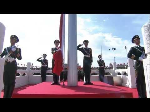 China Military Parade  - National Flag Raising Ceremony  - 720HD