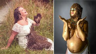 Pregnant Ohio Mom Poses With 40,000 Bees Again in Maternity Photo Shoot