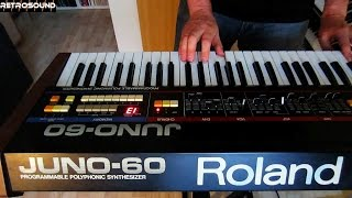 Roland Juno-60 Analog Synthesizer + TR-808