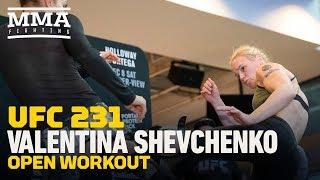 UFC 231: Valentina Shevchenko Open Workout Highlights  - MMA Fighting