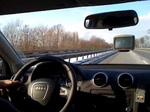 audi a3 2 0 tdi 170 ps 210 kmh autobahn a30 youtube. Black Bedroom Furniture Sets. Home Design Ideas