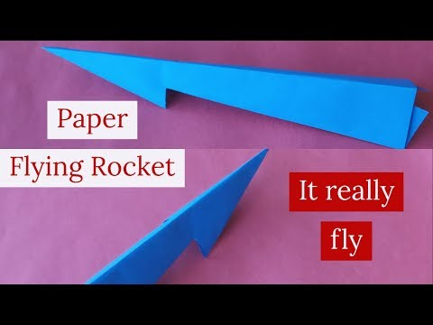 Origami-How to make origami paper flying rocket/Tutorial-How to make diy paper rocket