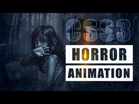 Horror Movie Like Text Animation Just By Using CSS 3 & HTML