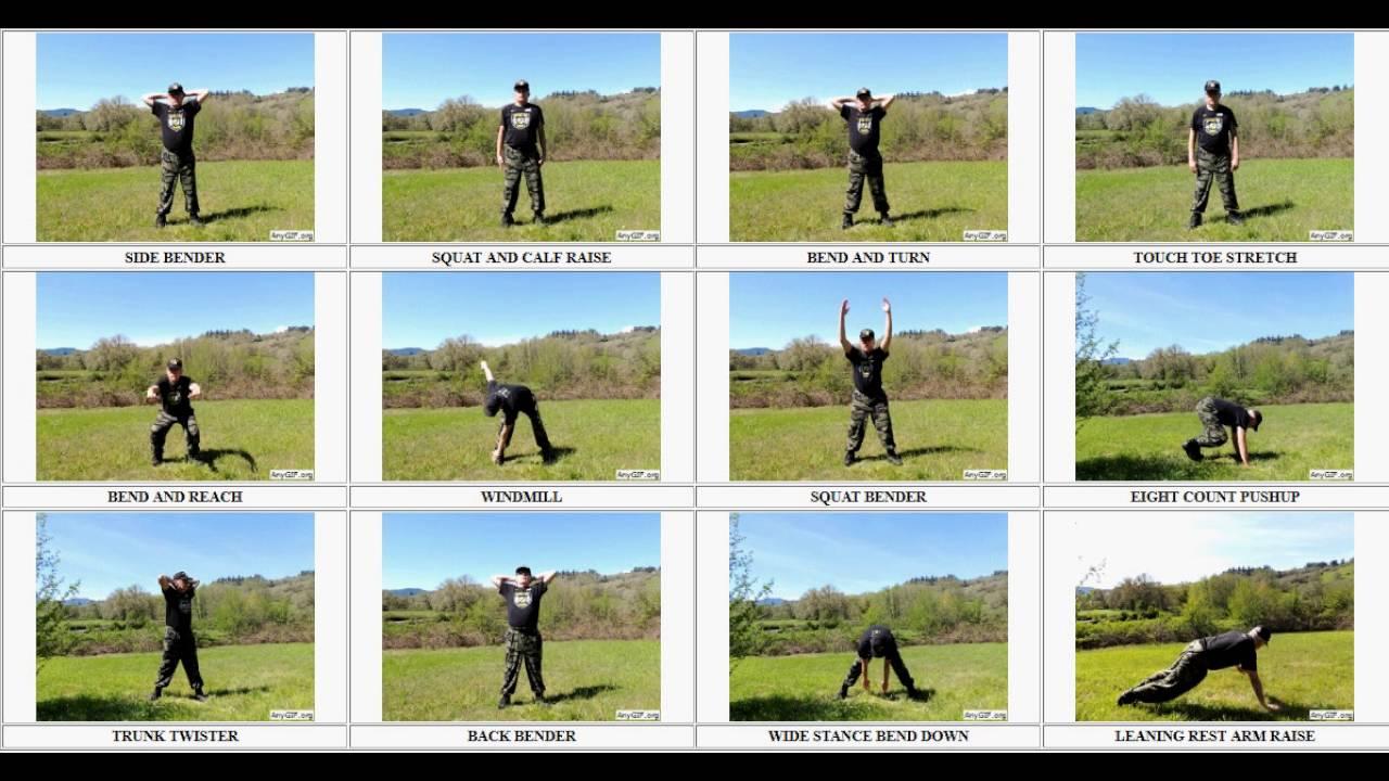 Daily Dozen Exercises