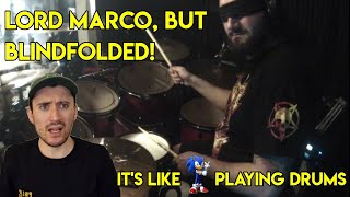 The Fastest In The Game? Drum Teacher reacts to Lord Marco BLINDFOLDED (Hunhau Mitnal Playthrough)