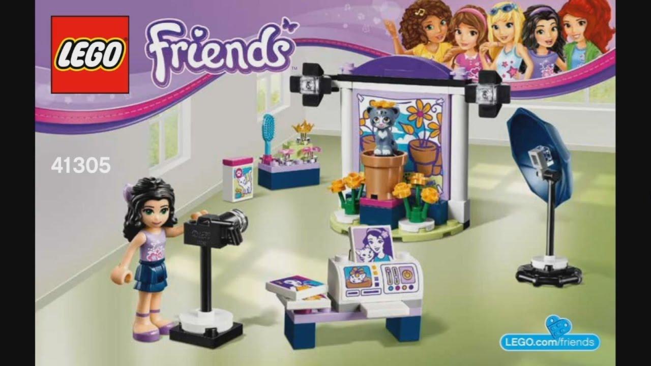 Lego Friends 41305 Emmas Photo Studio Instruction Timelapse Youtube