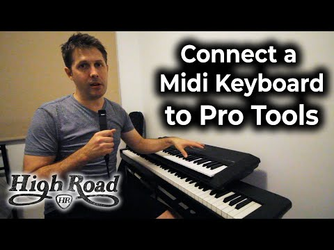 Connect A MIDI Keyboard To Pro Tools