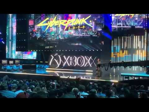 Cyberpunk 2077 Crowd Reaction! & Keanu Reeves! - E3 2019