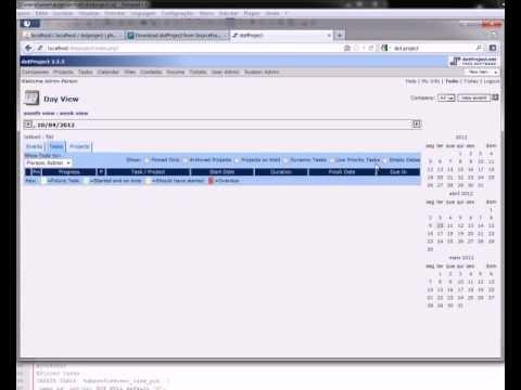 Tutorial de uso - dotProject Parte 1 - YouTube