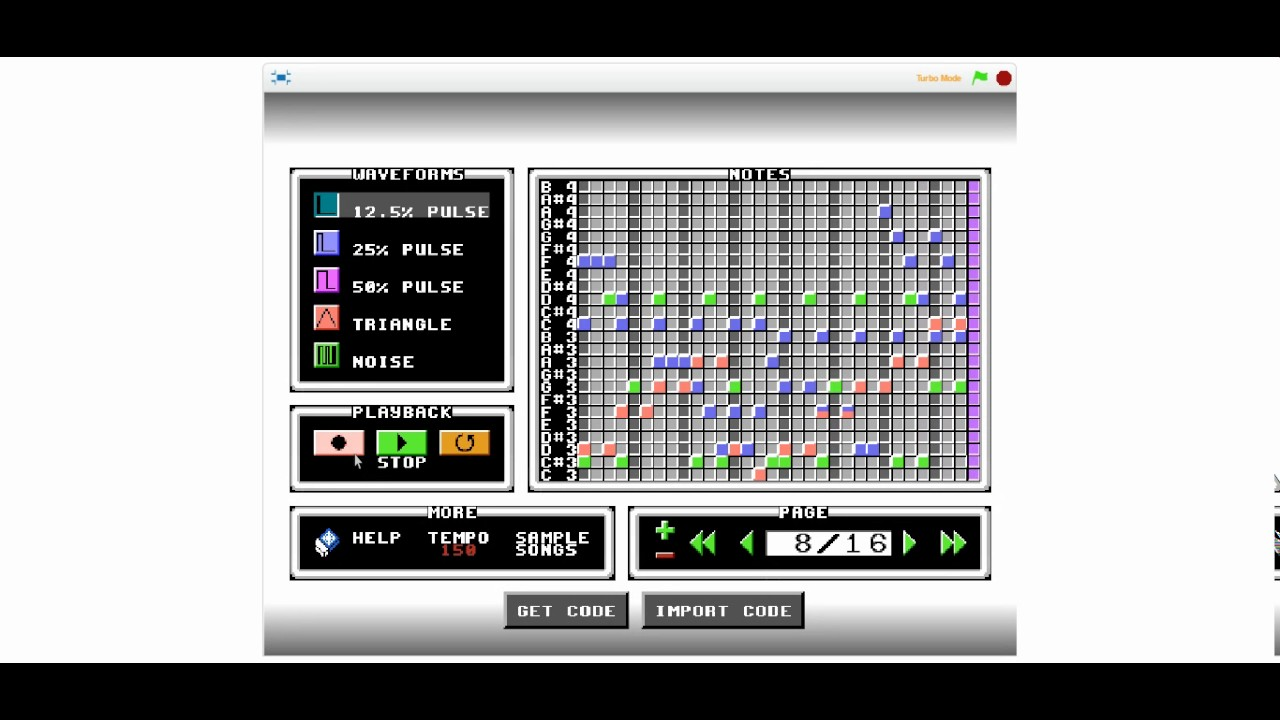 SWEET SONG! - 8 Bit Music Maker #1