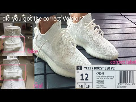 951333d6f Comparison Real VS Fake Yeezy Boost 350 V2