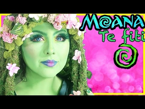 Disney Moana Te fiti Makeover Makeup Tutorial transformation Princess Toys movie Maui beauty beast
