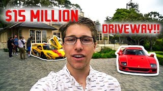 You'll Never Guess What This Millionaire Has In His ($15 Million) Driveway!!