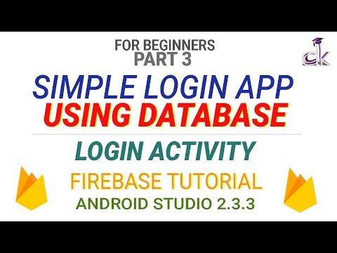 Simple Login App Using Database Tutorial Login Activity