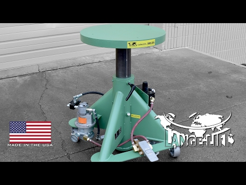 Air Powered Lift Table with Round Top | 1,000 Pound Capacity