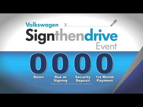 Wallace Volkswagen Sign & Drive w/ 0% APR