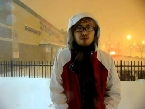 February Blizzaard Asian Weather News Reporter