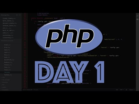 PHP Web Framework Day 1 - Intro & Overview