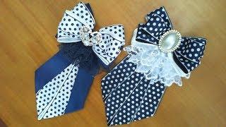 DIY/МК/Как сделать школьные галстуки для девочек. School ties for girls