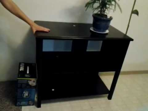 ameriwood durham 37 40 gallon tank stand from the pet smart youtube. Black Bedroom Furniture Sets. Home Design Ideas