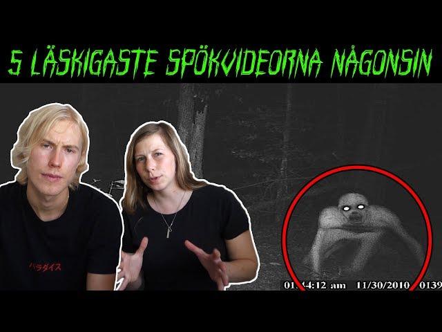 5 LÄSKIGASTE SPÖKVIDEORNA NÅGONSIN - DEL 2 ft. Johanna Berg