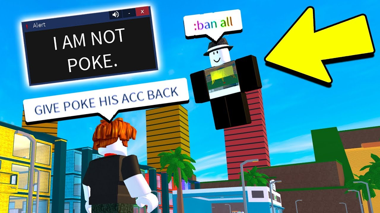Pretending To Be Hacked Prank With Admin Commands Roblox
