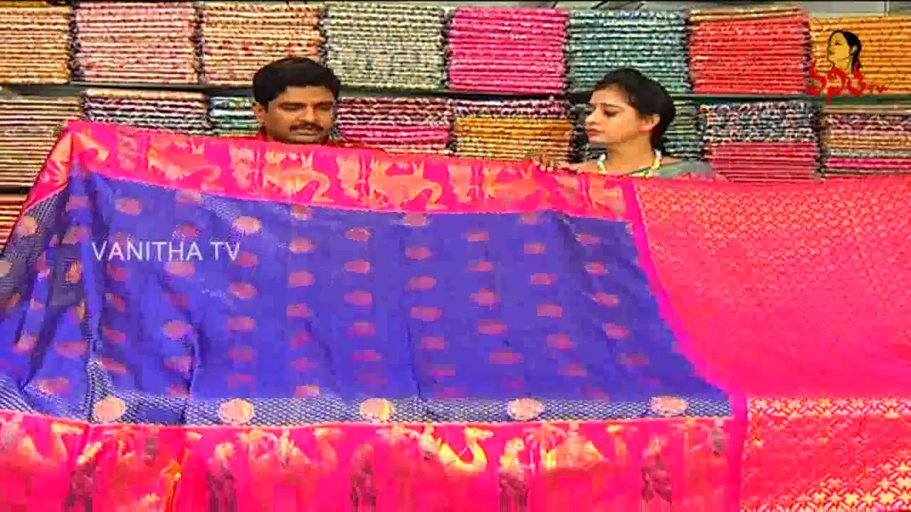 Navy Blue And Pink Combination Designer Pattu Saree New Arrivals Vanitha Tv