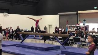 Gambar cover Level 8 beam routine 9.6 at State Championships 2017 NorCal